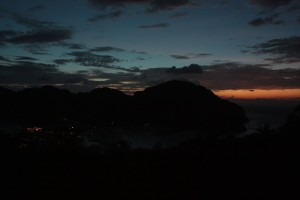 Unfortunately, we couldn't really get a good photo of the sunset, because of the second mountain directly to the West