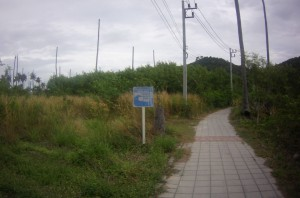 There were a lot of signs showing the tsunami escape routes. This is an area that was devastated in the 2004 tsunami