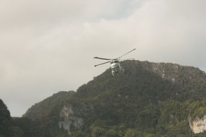 When we were leaving on a ferry, a helicopter hovered for some time above the local hospital, then flew away, without landing there.