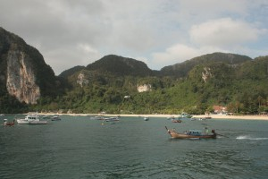 Last glance on the island. Tonsai Tower is on the left.